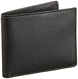 Perry Ellis Men\'s Park Avenue Passcase Wallet, Black, One Size