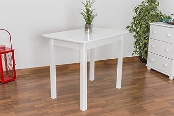 Weißer Esstisch 60x90 cm Kiefer, Farbe: Weiß