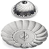 "Sunsella Vegetable Steamer - 5.3"" to 9.3"" - 100% Stainless Steel"