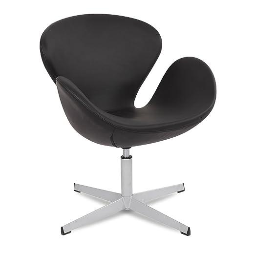 Sillón SWAN -tapizado PU--Negro-Unica Inspiración SWAN de Arne Jacobsen
