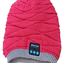 buy Happy-Top® Bluetooth Beanie Knitted Bluetooth Music Magic Hat Winter Beanie Hat With Bluetooth Headphone Headset, Mic, Built-In Stereo Speakers And Rechargeable Battery (Red)