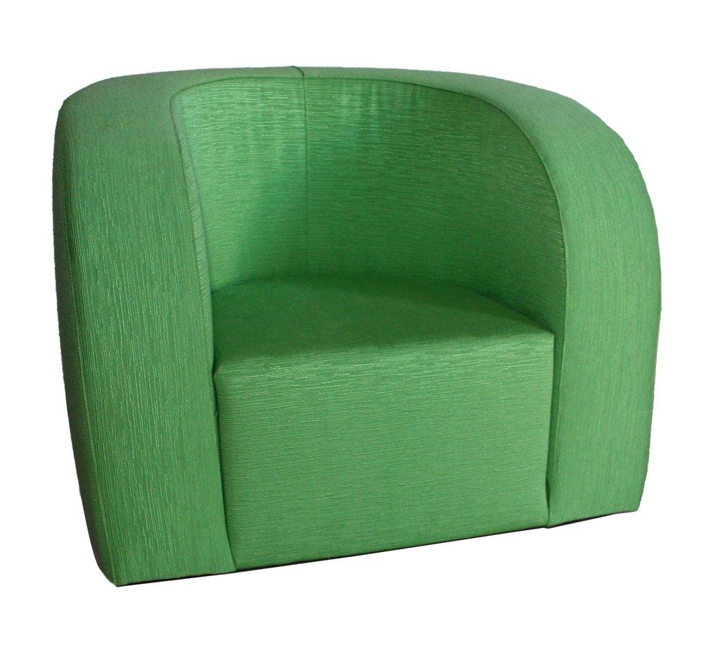 Arketicom komfortabel und Licht Moderner Sessel Mond Senior Handgefertigte Gemischte Baumwolle Farbe Apfelgrün Maße cm 65x70x80