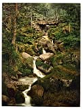 13cm x 18cm (1890 - 1900) Vintage Photochrom Postcard Reprint of Heber's Ghyll, Ilkley, West Yorkshire, England