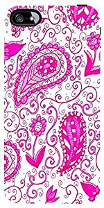 Snoogg Paisley Pink Pattern Case Cover For Apple Iphone 5C