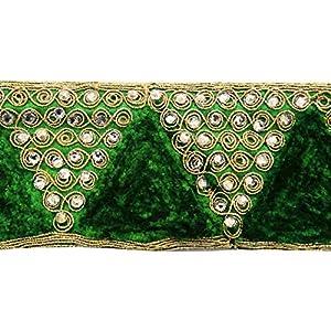 accesorios de costura de suministro decorativa artesanal 5,5 cm de ancho de corte de cuentas por el patio en BebeHogar.com