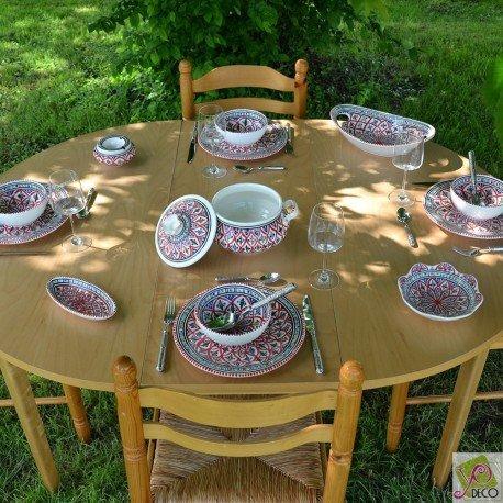 Service à soupe Jileni rouge - 6 pers