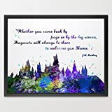 dignovel Studios Hogwarts Castle Zitat Harry Potter Aquarell Illustration Art
