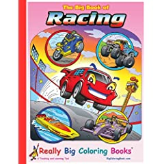 Big Book of Racing Giant Super Jumbo Coloring Book (18 wide x 24 tall) Paperback