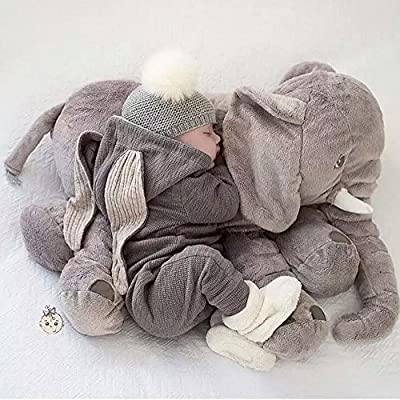 Soft Elephant Sleep Pillow with Blanket For Babies Grey  GREAT GIFT