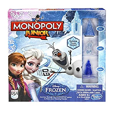 Monopoly Junior Game Frozen Edition from Hasbro Gaming