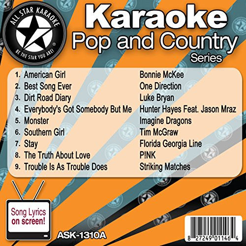 All Star Karaoke Pop and Country Series (ASK-1310A) (Karaoke Cds One Direction compare prices)