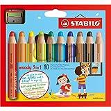 Stabilo 880/10-2 - Pack 10 lápices y sacapuntas