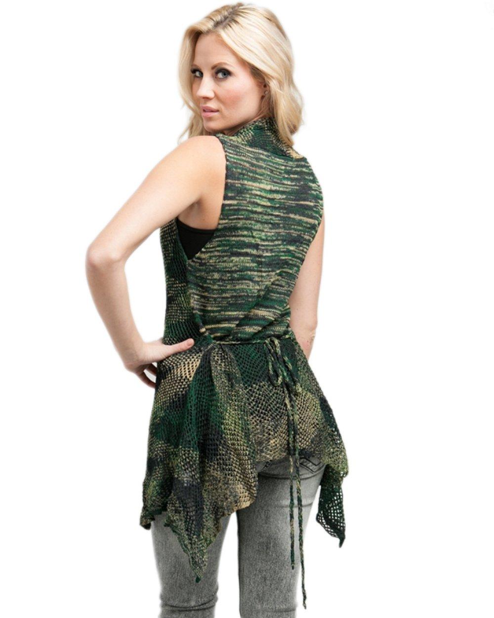 MOD 20 Women's Textured Knit Cardigan Tie Waist Vest