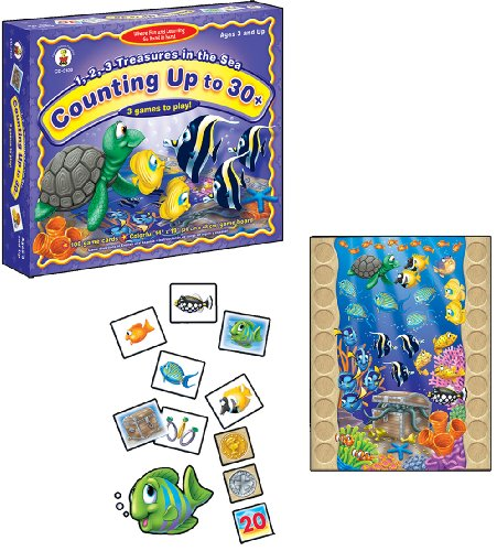 1, 2, and 3 Treasures in The Sea Educational Board Game - 1