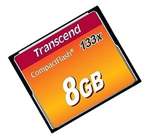 Transcend 8 GB 133x CompactFlash Memory Card TS8GCF133
