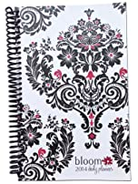 2014 bloom Calendar Year Daily Day Planner Fashion Organizer Agenda January 2014 Through December 2014 Damask