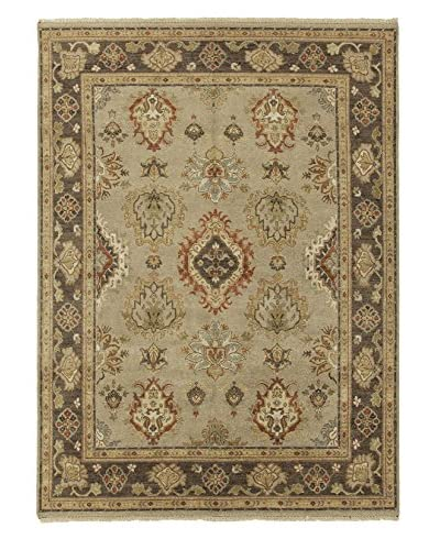 Jaipur Rugs Hand-Knotted Oriental Pattern Rug, Gray/Brown, 2' x 3'
