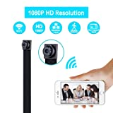 WiFi Spy Camera, Ruidla Wireless Mini Hidden Camera 1080P HD Nanny Cam Home Office Security Camera Portable Indoor Outdoor Using with Motion Detection