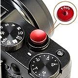 【F-Foto】 ソフトレリーズシャッターボタン 『各社カメラ対応』 凹タイプ (レッド)