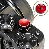 エフフォト F-Foto ソフトレリーズシャッターボタン 各社カメラ対応 凹タイプ (レッド) SB-R