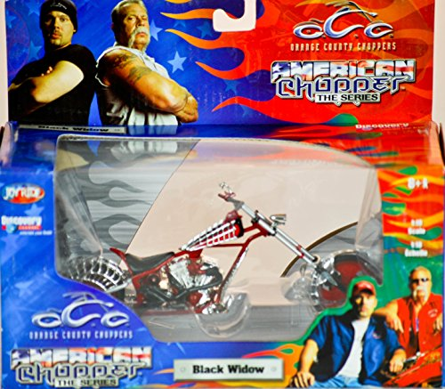2004 - RC2 Brands / ERTL / Joy Ride - Orange County Choppers - American Chopper The Series - Black Widow - 1:18 Scale - Die Cast Metal - 1of 9 in Series - New - MIB - Limited Edition - Collectible (1 6 Scale Chopper compare prices)