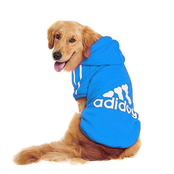 Trudz Pet Large Dog Hoodies, Rdc Pet Apparel, Fleece Adidog Basic Hoodie Sweater, Cotton Jacket Sweat Shirt Coat from 3XL to 9XL (Color: Blue, Tamaño: 3XL)