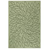 "Persimmon Area Outdoor Area Rug, 7'6""x10'9"", GREEN BLACK"