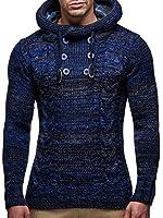 LEIF NELSON Gilet tricot col large, ch‰le - Homme LN20227