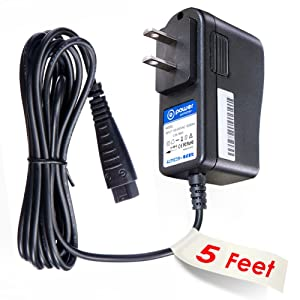 T POWER Ac Dc Adapter Charger Compatible with Panasonic WESED90W7658 (RE7-77, RE7-87) Womens Ladies Wet and Dry Epilator W,Pumice Stone 2 Shaver & Cleansing Beauty Instrument Dense Power Supply