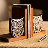 ExclusiveLane Owl Book End With Hang Engraving