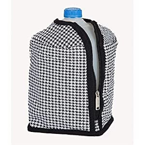 Large Decorative Insulated 1 Gallon Beverage Jacket - Houndstooth by CC Home Furnishings
