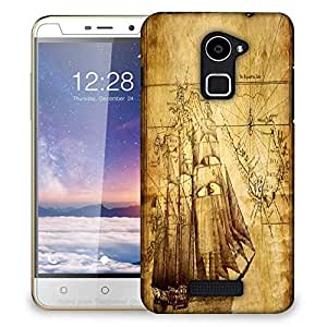 Snoogg Navigator'S Map Designer Protective Phone Back Case Cover For Coolpad Note 3 Lite