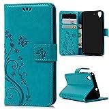 Mavis's Diary Huawei Y6 Solide Blau Drucken(Schmetterling