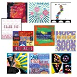 Greeting cards pack, Articulate - Ten word and sentiment cards including thank you, new home, get well and good luck.
