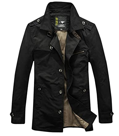 Men Fashion Jackets Outwear Wantdo Men cotton Big and Tall