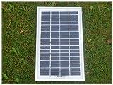 モノクリスタルソーラーパネル5W 高効率で振動にも強い。小型/単結晶タイプ [a252]