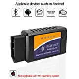 Car ELM327 Bluetooth OBD2 Scanner Auto Diagnostic Scan Tool Vehicle OBDII Fault Code Reader Check Engine Light Adapter for Android Phone Devices,Compatible with Torque Pro APP (Tamaño: Bluetooth)