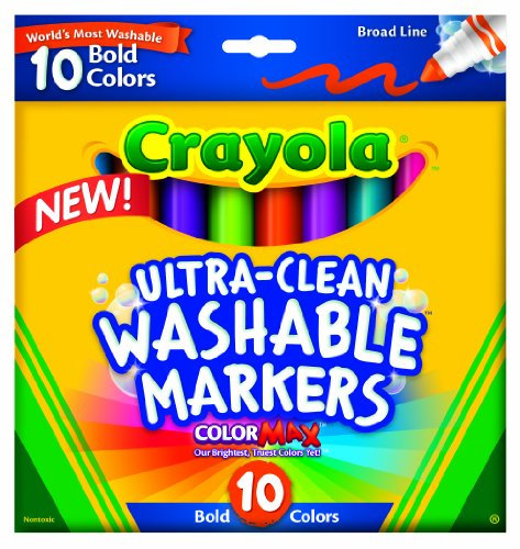 Crayola  Ultraclean Broadline Bold Markers (10 Count) - 1