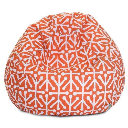 Majestic Home Goods Aruba Bean Bag, Small, Orange