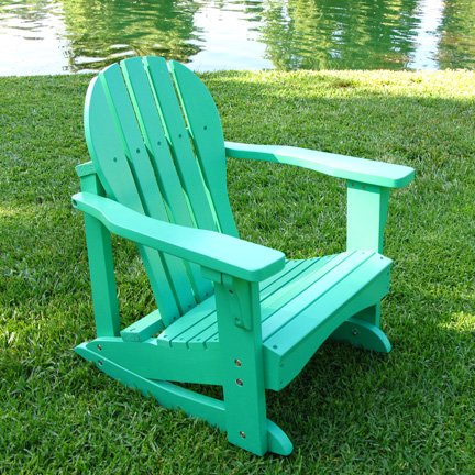 Kids Adirondack Chair Rocker In Green
