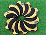 H09 golf club headcover neoprene iron head cover 10pcs (black/yellow)