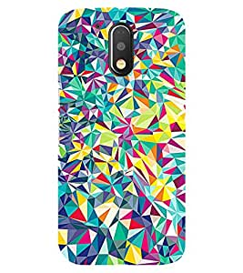 Chiraiyaa Designer Printed Premium Back Cover Case for Moto G4 Play (glass colorful pattern) (Multicolor)
