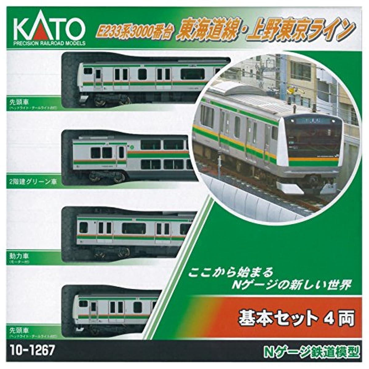 [해외] KATO N게이지 E233 계 3000카운터 토카이도선우에노 도쿄 라인 기본 4 양세트 10-1267 철도 모형 전철-10-1267 (2015-03-28)