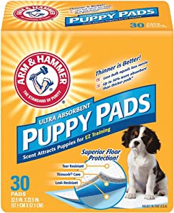 Arm & Hammer Ultra Absorbent Puppy Pads, 30 ea