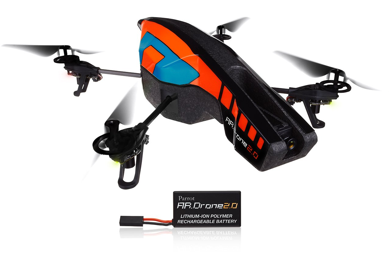 Parrot AR.Drone 2.0 Quadricopter with Replacement Battery for Apple and Android Devices ($271.99)