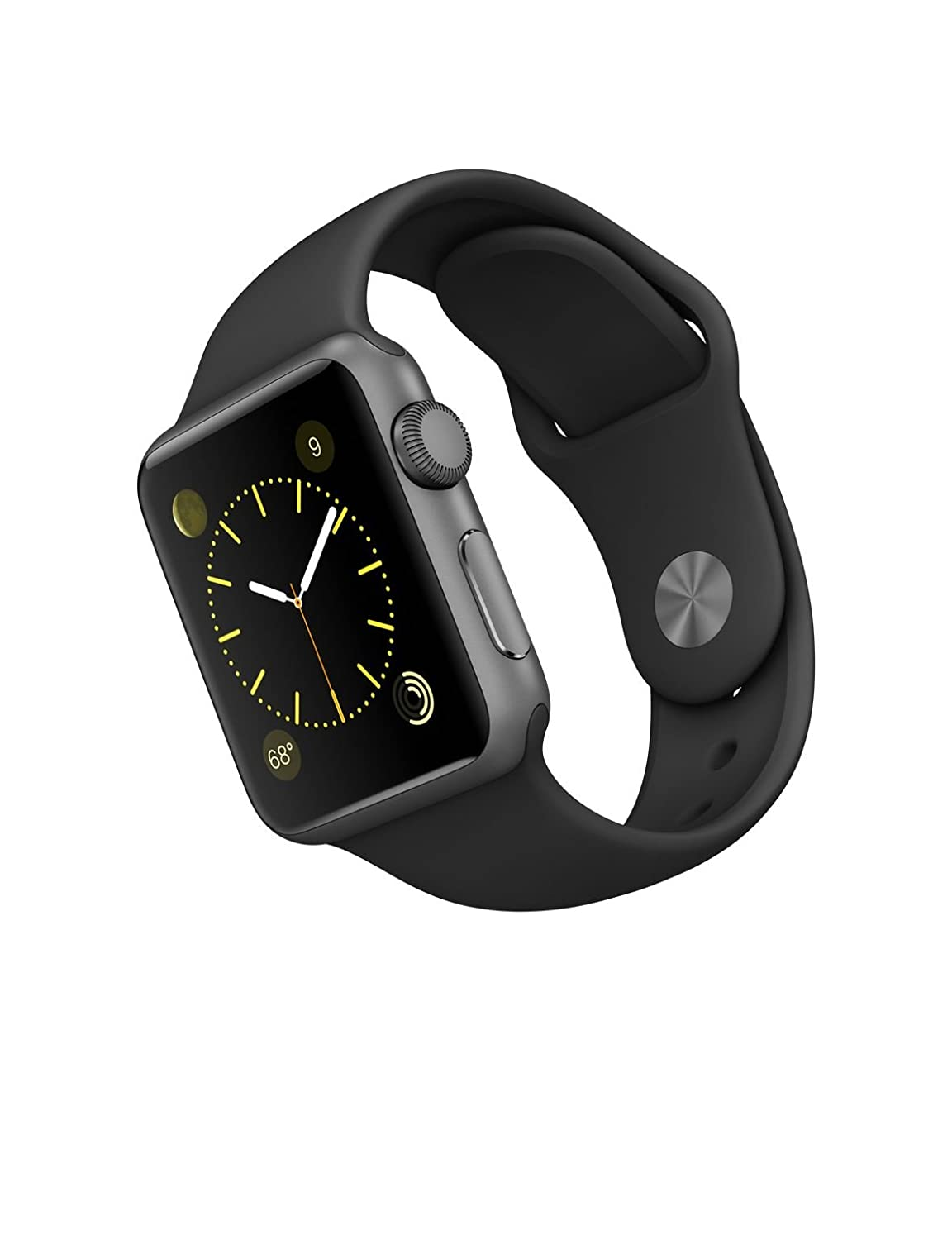 Đồng hồ Apple Watch 38mm Aluminum Case Sport with Black Sport Band