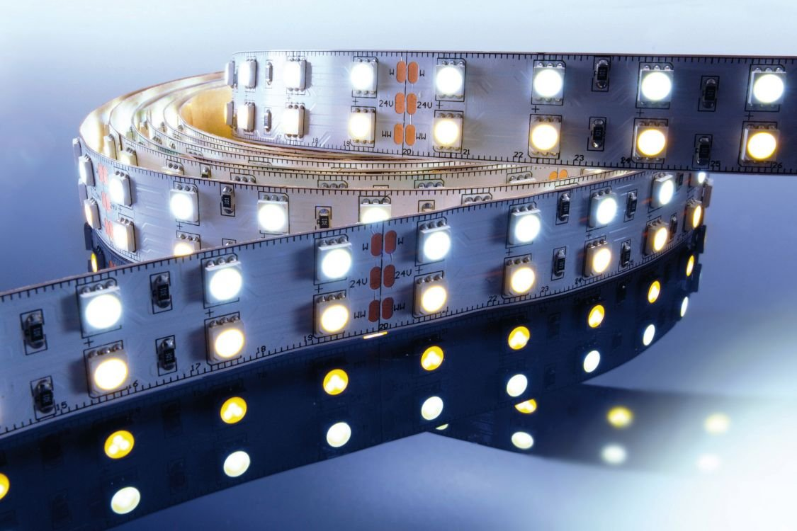 KapegoLED Flexibler LED Stripe, 5050, SMD, 24 V DC, 86,40 W, warmweiß und Kaltweiß 840065