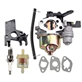Coolwind GX200 Carburetor with Gasket Fuel Filter Spark Plug for Honda GX160 5.5 HP GX200 6.5 HP Engine WP30X Water Pump Pressure Washer