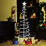 4FT/5FT Spiral Tree LED Lights Christmas Tree Multi Color Cool White Home Outdoor Holiday Decor