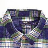 POLO Ralph Lauren ポロ ラルフローレン フランネル チェックシャツ 長袖 ピマコットン メンズ シャツ ブルー×グリーン系 Mサイズ 並行輸入品 VITA1607-M